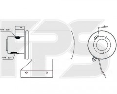 Осушитель кондиционера для VW (BEHR) FP 74 Q477-X