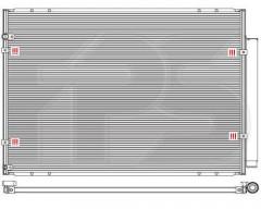 Радиатор кондиционера для LEXUS (Koyorad) FP 81 K496-X
