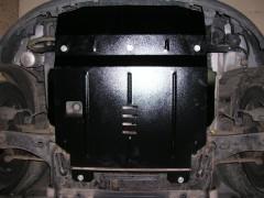 Фото 2 - Защита двигателя и КПП, радиатора для Ford Fiesta VI '02-09, V-1,4D (Кольчуга)