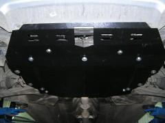 Фото 3 - Защита картера двигателя, КПП и радиатора для Kia Cerato I '04-08, V-все, МКПП/АКПП (Кольчуга)