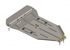 Защита картера двигателя и КПП, радиатора для Mercedes-Benz Viano/VitoD (W 639) '03-13, V-2,0 CDI, АКПП 4х4 (Кольчуга)