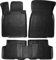 Коврики в салон для Dacia Logan MCV '06-12/Largus 12- резиновые, черные (AVTO-Gumm)