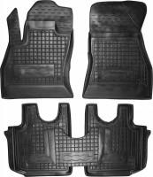 Коврики в салон для Fiat 500L '13- резиновые, черные (AVTO-Gumm)