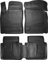 Коврики в салон для MG 5 HB '13- резиновые, черные (AVTO-Gumm)