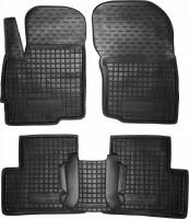 Коврики в салон для Mitsubishi Outlander '12- резиновые, черные (AVTO-Gumm)