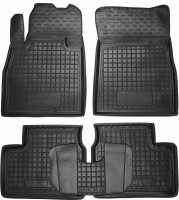 Коврики в салон для Nissan Micra '10-17 резиновые, черные (AVTO-Gumm)