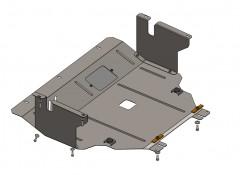 Защита картера двигателя и КПП, радиатора для Nissan Primastar/Opel Vivaro/Renault Trafic '01-14, V-2,0 D; МКПП (Кольчуга)