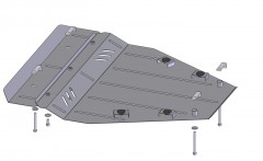 Кольчуга Защита картера двигателя и КПП для Nissan X-Trail II '07-, V-все, АКПП/МКПП (Кольчуга)