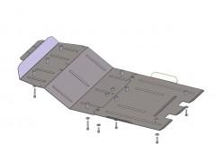 Защита двигателя и радиатора, редуктора для Toyota LC 200 '07-, V-4,5D, АКПП (Кольчуга)