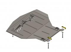 Защита картера двигателя и КПП, радиатора для Volkswagen Passat B3, 88-93, V-2,0, МКПП (Кольчуга)