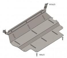 Кольчуга Защита картера двигателя и КПП, радиатора для Volkswagen Tiguan, 07-, V-все, МКПП/АКПП (Кольчуга)
