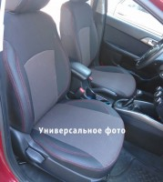 Авточехлы Premium для салона Toyota RAV4 '13- 2. 0 бензин, красная строчка (MW Brothers)