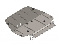 Защита картера двигателя и КПП, радиатора для ВАЗ 2170 «Приора», 07-, V-все (Кольчуга)