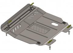 Защита картера двигателя и КПП, радиатора для ЗАЗ Vida, 13-, V-все (Кольчуга)