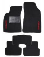 Коврики в салон для Renault Fluence '09- текстильные, черные (Стандарт) без люверсов