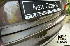 Накладка на бампер для Skoda Octavia A7 '13- (Premium)