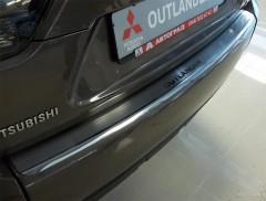 Накладка с загибом на бампер для Mitsubishi Outlander XL '07-12 (Premium)