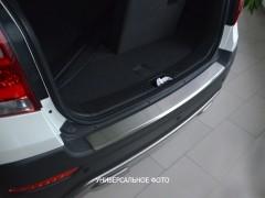 Фото товара 1 - Накладка с загибом на бампер для Nissan Tiida '05-14 Хетчбек (Premium)