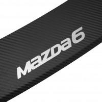 Фото 2 - Накладка с загибом на бампер карбон для Mazda 6 '13- (Premium+k)