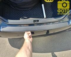 Накладка с загибом на бампер карбон для Toyota Camry V50/55 '11-13 (Premium+k)