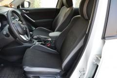 Авточехлы Premium для салона Mazda CX-5 '12-17 базовой комплектации, серая строчка (MW Brothers)
