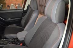 Авточехлы Premium для салона Mazda CX-5 '12-17 базовой комплектации, красная строчка (MW Brothers)