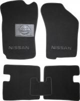 Коврики в салон для Nissan Sunny '86-90 текстильные, черные (Люкс)