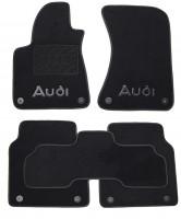 Коврики в салон для Audi A8 '10- текстильные, черные (Премиум) 8 клипс, Long