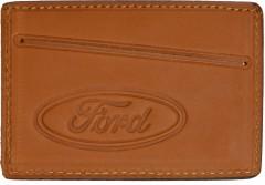 """Обложка для прав/тех.паспорта светло-коричневая """"Ford"""""""