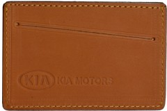 """Обложка для прав/тех.паспорта светло-коричневая """"Kia"""""""
