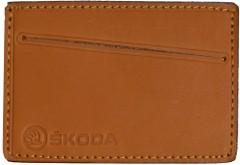 """Обложка для прав/тех.паспорта светло-коричневая """"Skoda"""""""