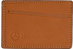 """Обложка для прав/тех.паспорта светло-коричневая """"Mercedes"""""""