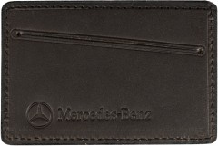 "Обложка для прав/тех.паспорта темно-коричневая ""Mercedes"""