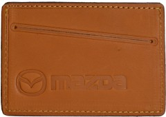 """Обложка для прав/тех.паспорта светло-коричневая """"Mazda"""""""