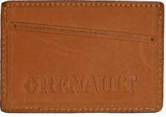 """Обложка для прав/тех.паспорта светло-коричневая """"Renault"""""""