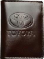 """Обложка для документов каштановая """"Toyota"""""""