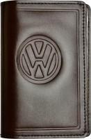 """Обложка для документов большая темно-коричневая """"Volkswagen"""""""
