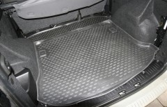 Коврик в багажник для Lada (Ваз) Largus 12- (5 мест), полиуретановый (Novline / Element)