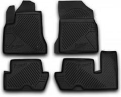 Novline Коврики в салон 3D для Citroen C4 Picasso '06-13 (2 ряда) полиуретановые, черные (Novline)
