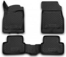 Novline Коврики в салон 3D для Chevrolet Cruze '09- полиуретановые, черные (Novline)