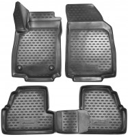 Коврики в салон для Chevrolet Tracker '13- полиуретановые, черные (Novline) 3D
