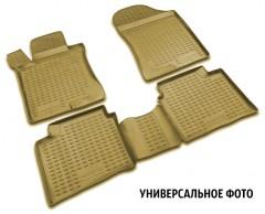 Коврики в салон для Mitsubishi Galant '04-12 полиуретановые, бежевые (Novline / Element)