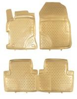 Коврики в салон для Honda Civic 5D '12- полиуретановые, бежевые (Novline / Element) 3D