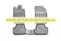 Коврики в салон для Citroen DS3 '10-16 полиуретановые, черные (Novline / Element)