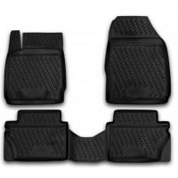 Коврики в салон для Ford Fiesta '09-11 полиуретановые, черные (Novline / Element) exp.s000.18