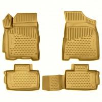 Коврики в салон для Kia Sportage '10-15 полиуретановые, бежевые (Novline / Element)
