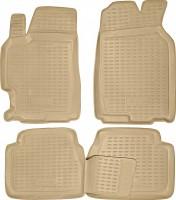 Коврики в салон для Mazda 6 '02-08 полиуретановые, бежевые (Novline / Element)