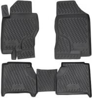 Коврики в салон для Nissan Pathfinder '05-14 полиуретановые, черные (Novline / Element)