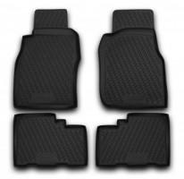 Коврики в салон для Nissan Patrol '04-09 полиуретановые, черные (Novline / Element)