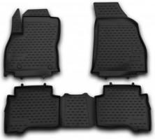 Коврики в салон для Peugeot Bipper '08- полиуретановые, черные (Novline / Element)